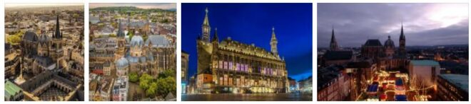 Special Buildings and Fountains in Aachen, Germany